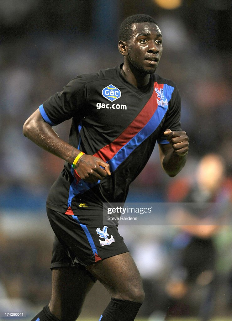 Yannick Bolaise of Crystal Palace in action during the pre season friendly match between Gillingham and Crystal Palace at Priestfield Stadium on July 23, 2013 in Gillingham, Medway.