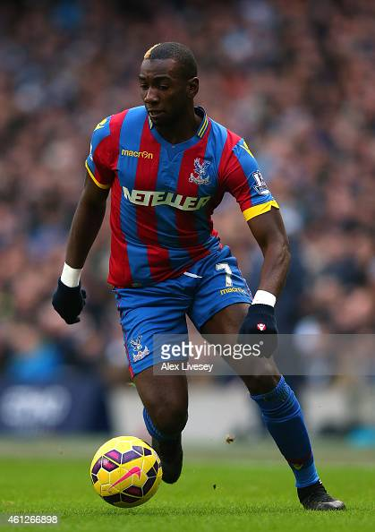Yannick Bolasie of Crystal Palace during the Barclays Premier League match between Manchester City and Crystal Palace at Etihad Stadium on December...