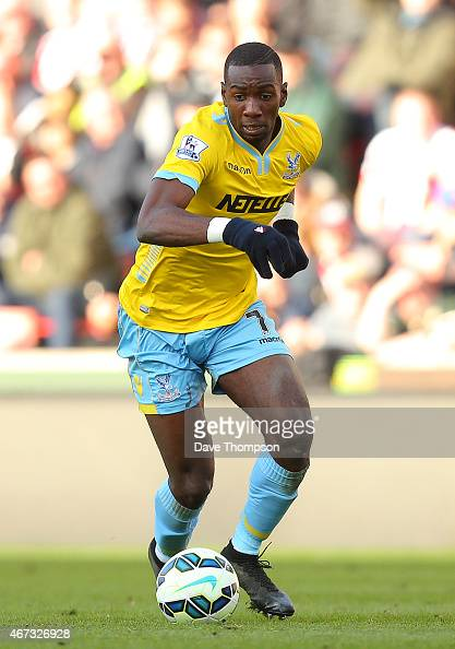 Yannick Bolasie of Crystal Palace during the Barclays Premier League match between Stoke City and Crystal Palace at The Britannia Stadium on March 21...