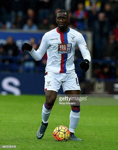 Yannick Bolasie of Crystal Palace during the Barclays Premier League match between Leicester City and Crystal Palace at The King Power Stadium on...