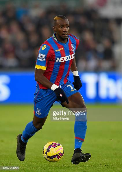 Yannick Bolasie of Crystal Palace in action during the Barclays Premier League match between Swansea City and Crystal Palace at Liberty Stadium on...
