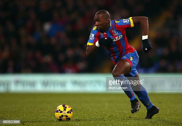 Yannick Bolasie of Crystal Palace in action during the Barclays Premier League match between Crystal Palace and Stoke City at Selhurst Park on...