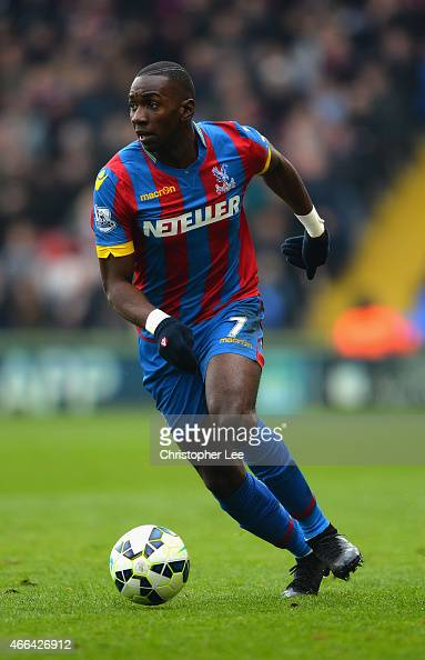 Yannick Bolasie of Crystal Palace in action during the Barclays Premier League match between Crystal Palace and Queens Park Rangers at Selhurst Park...