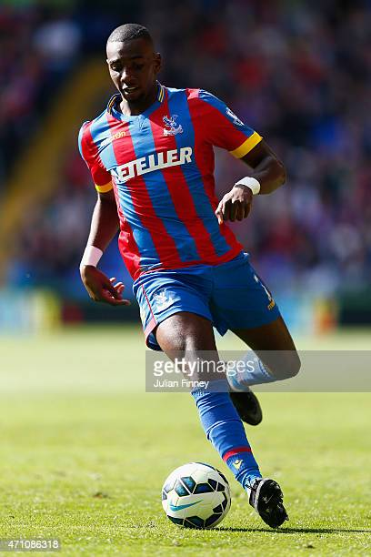 Yannick Bolasie of Crystal Palace in action during the Barclays Premier League match between Crystal Palace and Hull City at Selhurst Park on April...