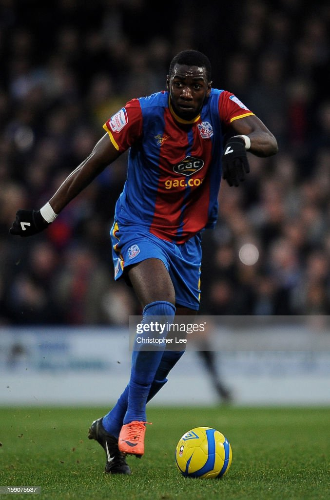 Yannick Bolasie of Crystal Palace runs with the ball during the FA Cup with Budweiser Third Round match between Crystal Palace and Stoke City at Selhurst Park on January 5, 2013 in London, England.