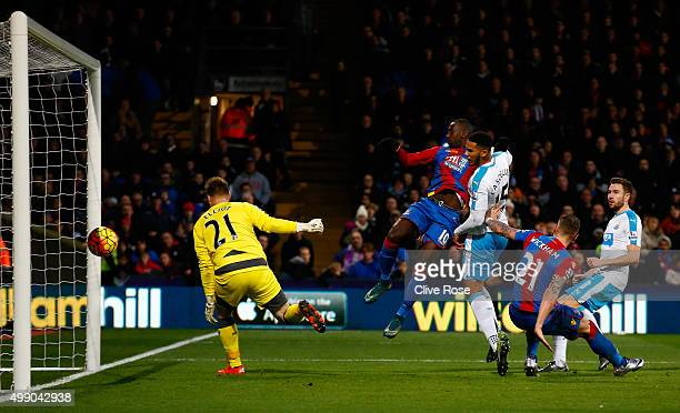 Yannick Bolasie of Crystal Palace scores his team's fourth goal during the Barclays Premier League match between Crystal Palace and Newcastle United...