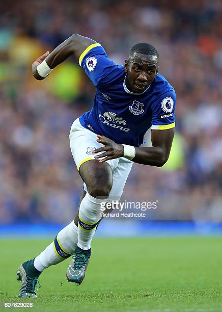 Yannick Bolasie of Everton in action during the Premier League match between Everton and Middlesbrough at Goodison Park on September 17 2016 in...