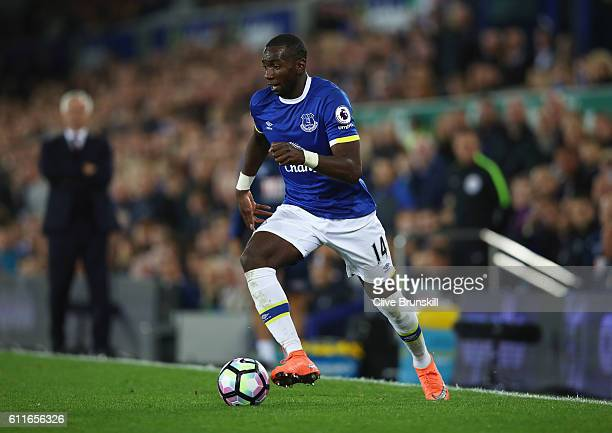 Yannick Bolasie of Everton in action during the Premier League match between Everton and Crystal Palace at Goodison Park on September 30 2016 in...