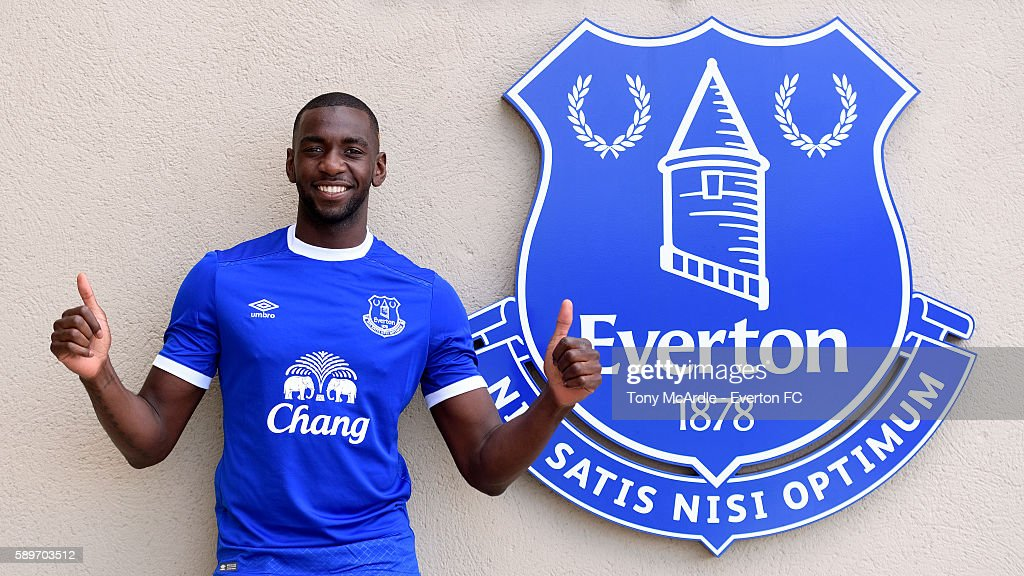 Yannick Bolasie poses for a photo at Finch Farm before being unveiled as a new Everton player on August 14, 2016 in Halewood, England.