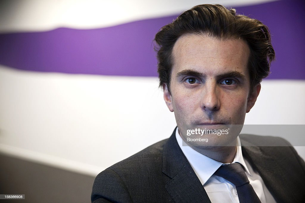Yannick Bollore, director general and vice president of Havas SA, poses for a photograph at the company's headquarters in Paris, France, on Friday, Dec. 14, 2012. Havas SA, the French advertising company which is known for memorable advertising campaigns, including the 2009 commercials for Evian water that featured babies on roller skates. Photographer: Balint Porneczi/Bloomberg via Getty Images