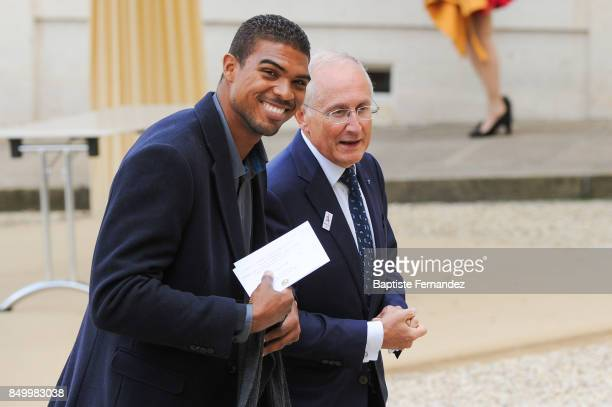 Yannick Borel during the reception of the CIO by the French President at Elysee Palais on September 15 2017 in Paris France