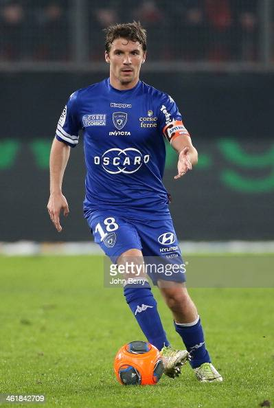Yannick Cahuzac of Bastia in action during the french Ligue 1 match between Valenciennes FC and SC Bastia at the Stade du Hainaut on January 11 2014...