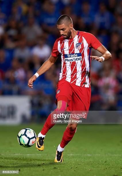 Yannick Carrasco of Atletico de Madrid controls the ball during the Pre Season Friendly match between Getafe CF and Atletico de Madrid at Coliseum...