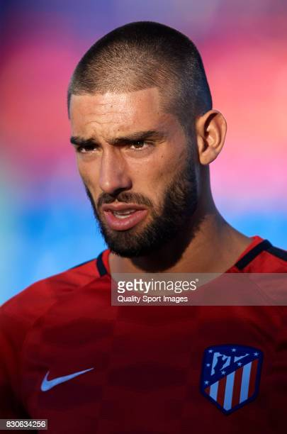 Yannick Carrasco of Atletico de Madrid looks on prior to the Pre Season Friendly match between Getafe CF and Atletico de Madrid at Coliseum Alfonso...