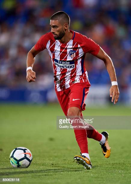 Yannick Carrasco of Atletico de Madrid runs with the ball during the Pre Season Friendly match between Getafe CF and Atletico de Madrid at Coliseum...