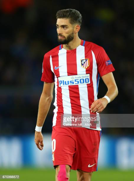 Yannick Carrasco of Atletico Madrid during the UEFA Champions League Quarter Final second leg match between Leicester City and Club Atletico de...