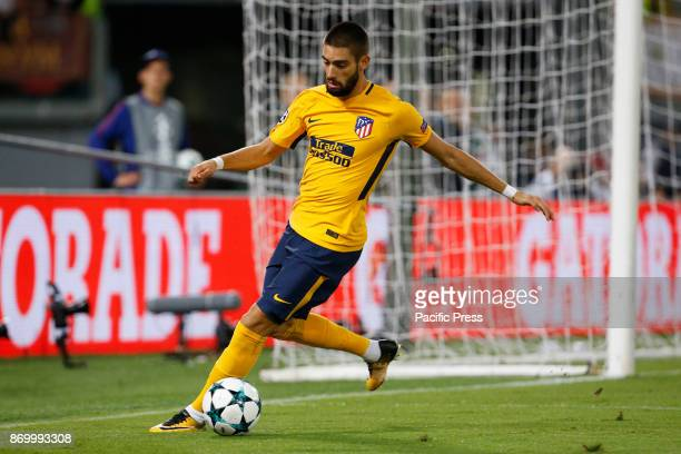 Yannick Carrasco of Atletico Madrid during the UEFA Champions League Group C soccer match against Roma in Rome The match ended in a 00 draw