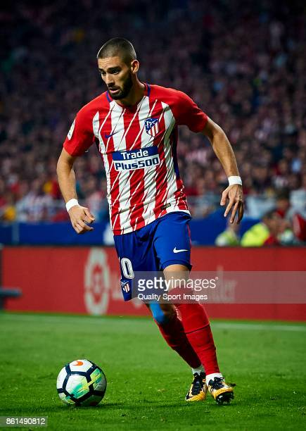 Yannick Carrasco of Atletico Madrid in action during the La Liga match between Atletico Madrid and Barcelona at Estadio Wanda Metropolitano on...