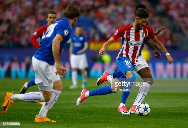 Yannick Carrasco of Atletico Madrid in action during the UEFA Champions League Quarter Final first leg match between Club Atletico de Madrid and...