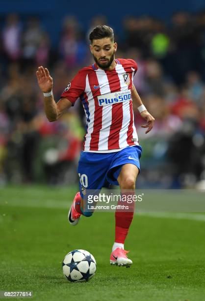 Yannick Carrasco of Atletico Madrid in action during the UEFA Champions League Semi Final second leg match between Club Atletico de Madrid and Real...