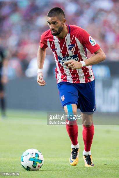 Yannick Carrasco of Atletico Madrid runs with the ball during the Audi Cup 2017 match between Club Atletico de Madrid and SSC Napoli at Allianz Arena...