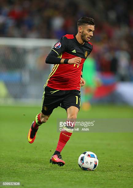 Yannick Carrasco of Belgium during the UEFA EURO 2016 Group E match between Belgium and Italy at Stade des Lumieres on June 13 2016 in Lyon France