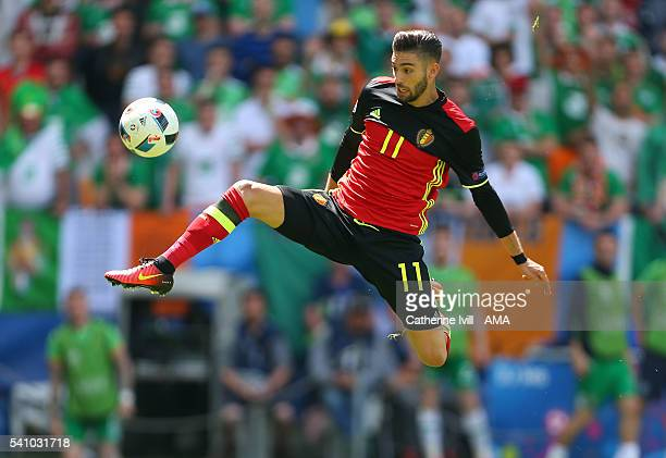 Yannick Carrasco of Belgium during the UEFA EURO 2016 Group E match between Belgium and Republic of Ireland at Stade Matmut Atlantique on June 18...