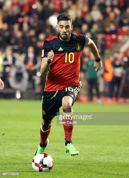 Yannick Carrasco of Belgium in action during the FIFA 2018 World Cup Qualifier between Belgium and Greece at Stade Roi Baudouin on March 25 2017 in...