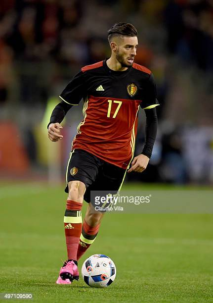 Yannick Carrasco of Belgium in action during the international friendly match between Belgium and Italy at King Baudouin Stadium on November 13 2015...