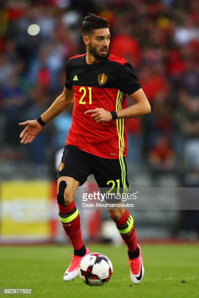 Yannick Carrasco of Belgium in action during the International Friendly match between Belgium and Czech Republic at Stade Roi Baudouis on June 5 2017...