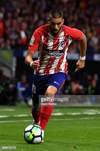Yannick Carrasco of Club Atletico de Madrid during the La Liga match between Atletico Madrid and Malaga at Wanda Metropolitano stadium on September...