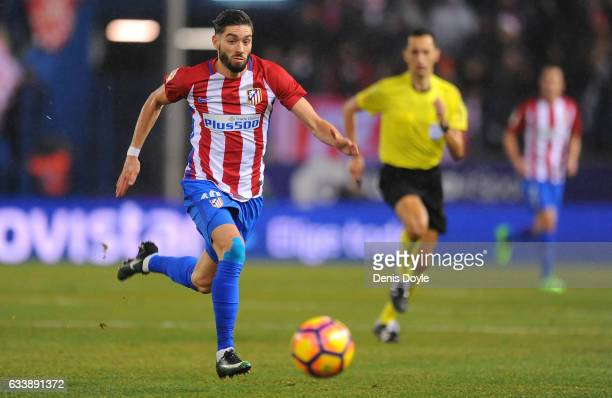 Yannick Carrasco of Club Atletico de Madrid in action during the La Liga match between Club Atletico de Madrid and CD Leganes at Vicente Calderon...