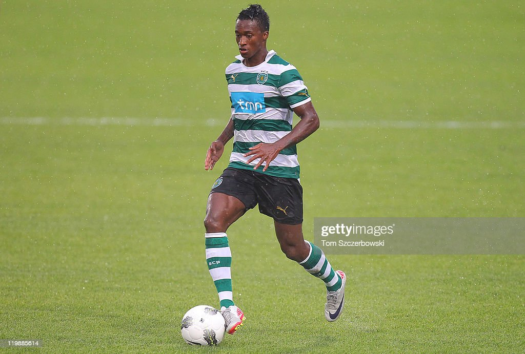 <a gi-track='captionPersonalityLinkClicked' href=/galleries/search?phrase=Yannick+Djalo&family=editorial&specificpeople=3684315 ng-click='$event.stopPropagation()'>Yannick Djalo</a> #20 of Sporting Clube De Portugal controls the ball against Juventus FC during their World Football Challenge friendly match on July 23, 2011 at BMO Field in Toronto, Ontario, Canada.