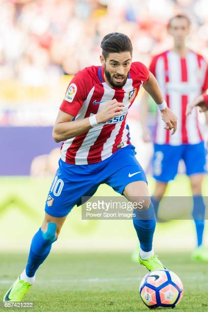 Yannick Ferreira Carrasco of Atletico de Madrid in action during their La Liga match between Atletico de Madrid and Sevilla FC at the Estadio Vicente...