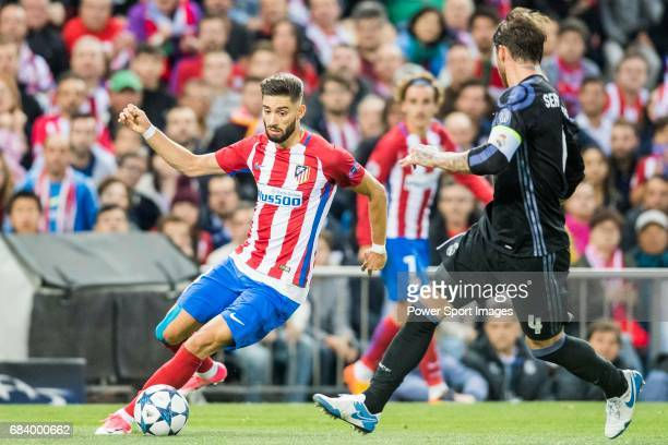 Yannick Ferreira Carrasco of Atletico de Madrid in action during their 201617 UEFA Champions League Semifinals 2nd leg match between Atletico de...