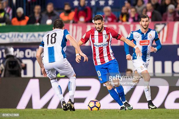 Yannick Ferreira Carrasco of Atletico de Madrid in action during the La Liga match between Atletico de Madrid and RCD Espanyol at the Vicente...