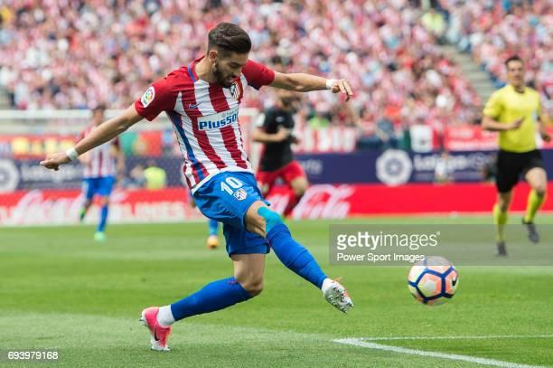 Yannick Ferreira Carrasco of Atletico de Madrid in action during the La Liga match between Atletico de Madrid and Athletic de Bilbao at the Estadio...