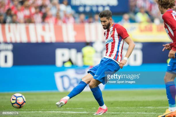 Yannick Ferreira Carrasco of Atletico de Madrid in action during the La Liga match between Atletico de Madrid and Athletic de Bilbao at the Estadio...