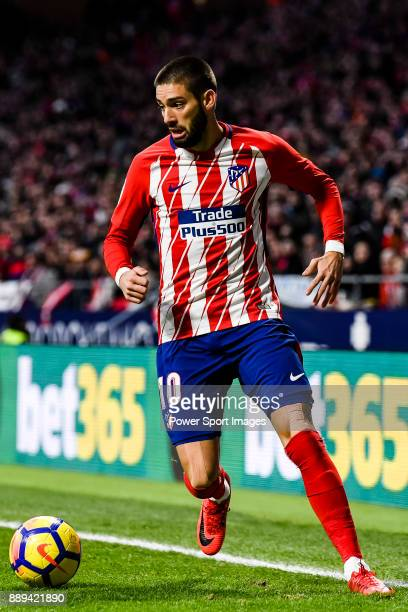Yannick Ferreira Carrasco of Atletico de Madrid in action during the La Liga 201718 match between Atletico de Madrid and Real Sociedad at Wanda...