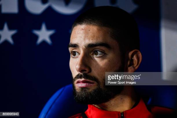Yannick Ferreira Carrasco of Atletico de Madrid prior to the La Liga 201718 match between CD Leganes and Atletico de Madrid on 30 September 2017 in...