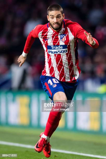 Yannick Ferreira Carrasco of Atletico de Madrid runs during the La Liga 201718 match between Atletico de Madrid and Real Sociedad at Wanda...