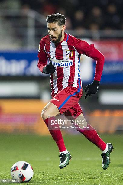 Yannick FerreiraCarrasco of Atletico Madrid controls the ball during the Copa del Rey Quarter Final 2nd Leg match between SD Eibar and Atletico...