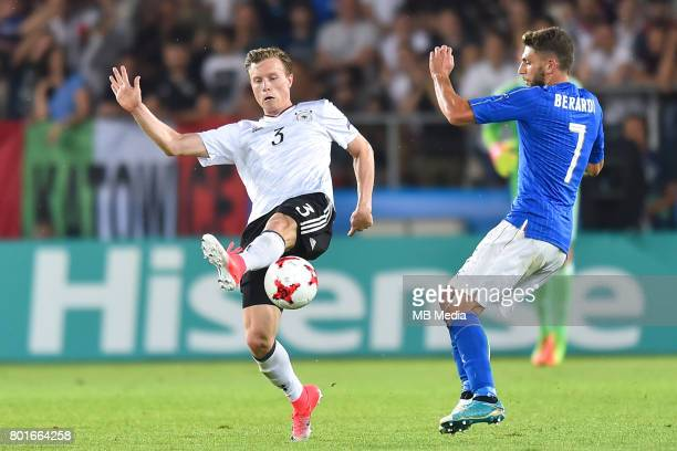 Yannick Gerhardt Domenico Berardi during the UEFA European Under21 match between Italy and Germany on June 24 2017 in Krakow Poland