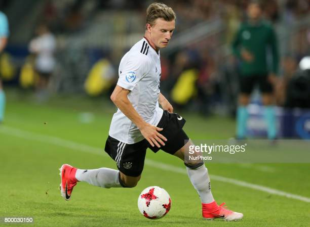 Yannick Gerhardt during the UEFA European Under21 Championship Group C match between Germany and Denmark at Krakow Stadium on June 21 2017 in Krakow...