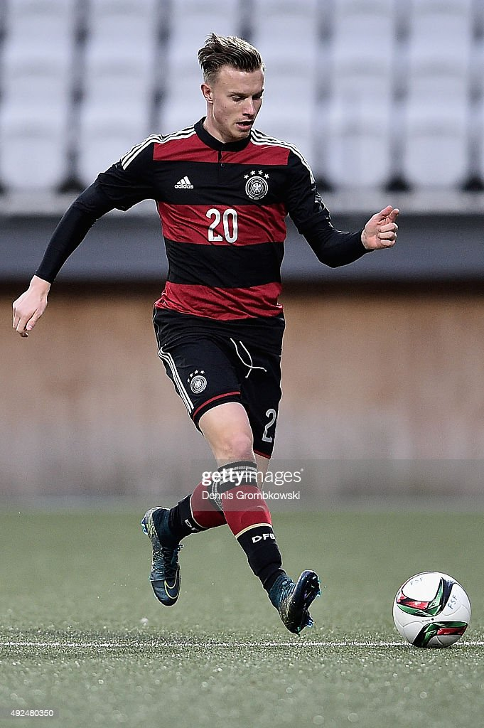 Yannick Gerhardt of Germany controls the ball during the 2017 UEFA European U21 Championships Qualifier between U21 Faroe Islands and U21 Germany at...