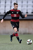 Yannick Gerhardt of Germany controls the ball during the 2017 UEFA European U21 Championships Qualifier between U21 Faroe Islands and U21 Germany at...