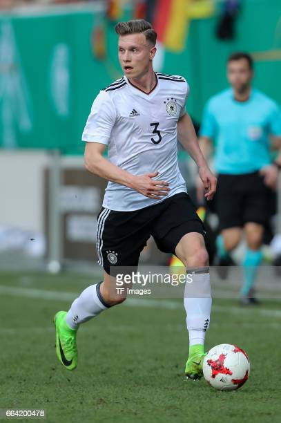 Yannick Gerhardt of Germany controls the ball during the International Friendly match between Germany U21 and Portugal U21 at GaziStadion on March 28...