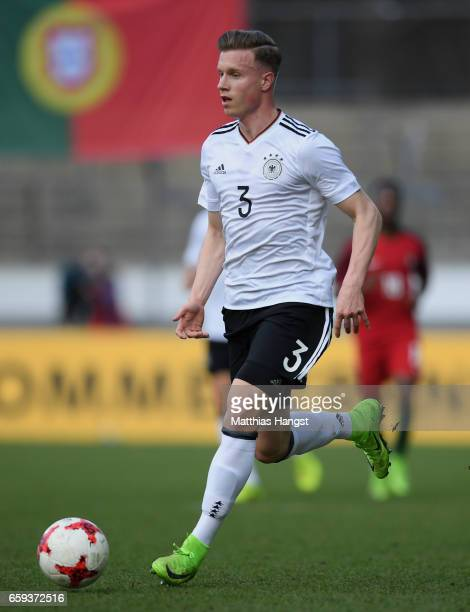 Yannick Gerhardt of Germany controls the ball during the U21 International Friendly match between Germany U21 and Portugal U21 at GaziStadion auf der...