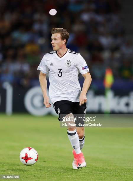 Yannick Gerhardt of Germany during the UEFA U21 Final match between Germany and Spain at Krakow Stadium on June 30 2017 in Krakow Poland