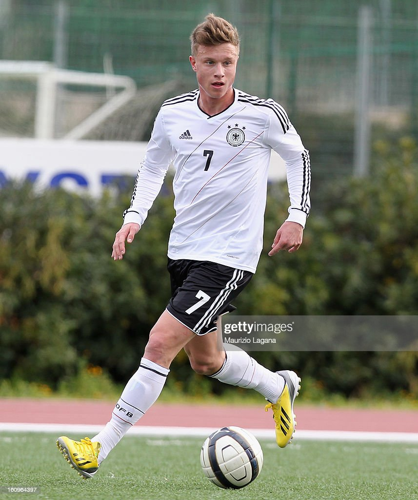 Yannick Gerhardt of Germany during Under 19 International Friendly match between Italy and Germany at Stadio Comunale San Pio on February 6, 2013 in Santo Spirito near Bari, Italy.